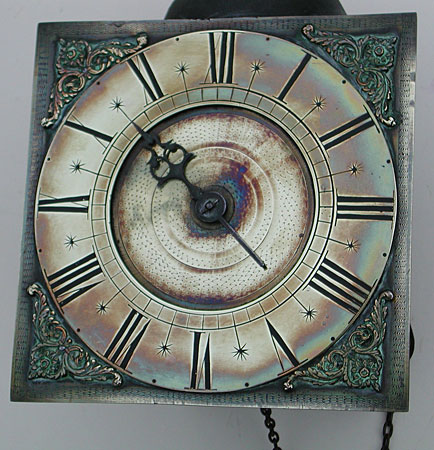 early eighteenth century 1730s hookandspike wall clock with nine