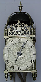 Exceptional lantern clock dating from before the Civil War (1630s)
