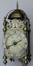 Uniquely early, large and very rare English lantern clock