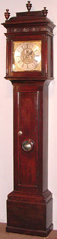 Anonymous eight-day clock c.1710 in original oak case