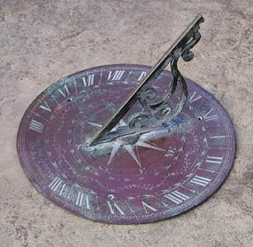 Mid-18th century sundial, anonymous, 15 inches