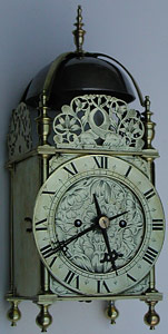 Lantern clock of the 1670s by Thomas Bagley of London