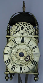 Lantern clock of the 1680s by Richard Baker of London