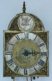lantern clock made in the 1730s by William Ball of Bicester