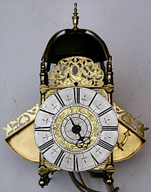 lantern clock made in the 1690s by John Barrow of London