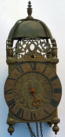 lantern clock made during the Civil War period by Richard Beck, London