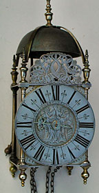 rare lantern clock from the 1690s by Edward Bilbie of Church Stoke, Somerset