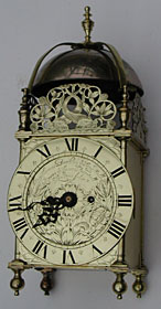 Lantern clock c.1660-70 by Thomas Birch, London