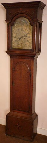 Unique longcase clock made in the 1740s by William Bothamley of Kirton, Lincolnshire