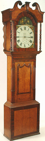 Eight-day oak-cased longcase clock, late 18th century, by Christopher Pennington of Kendal