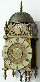 Exceptionally fine unsigned lantern clock made in Bristol in the 1680s