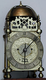 lantern clock by Thomas Browne, Bristol, Somerset, made about 1645