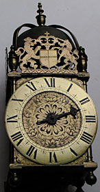 Civil War period lantern clock made in the 1650s in the Lothbury district of London, possibly by Thomas Loomes