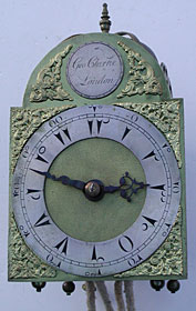 miniature arched dial lantern clock for the Turkish Market made in the 1760s by George Clarke of London