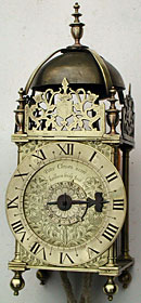 lantern clock made about 1640 by Peter Closon, who worked 'near Holborn Bridge', London