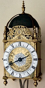 Very rare lantern clock made about 1665, by Thomas Crawley of London