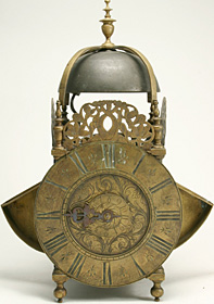 Lantern clock c.1700 by John Crucefix of London