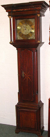 Eight-day clock by Robert Davis of Burnley, 1720s
