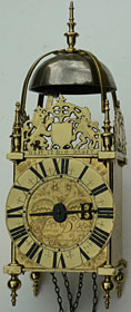 lantern clock by Lawrence Debnam of Frome in Somerset, made in the 1670s