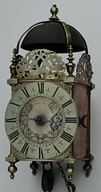 Lantern clock by James Delaunce of Frome, Somerset