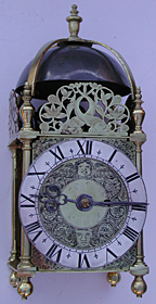 Rare lantern clock dating from about 1630