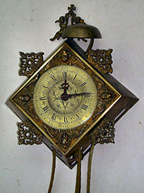 rare 'picture frame' clock with diamond-chaped dial, anonymous, 1690s