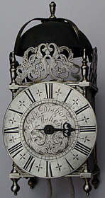 Early eighteenth-century lantern clock by John Disborrow of Ashen, Essex