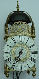 lantern clock made about 1695-1700 by James Drury of London