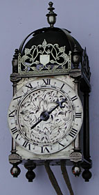 Unique early lantern clock made in the 1630s probably in London