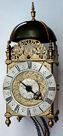 Rare lantern clock  made in the 1670s by Thomas Dyde, London