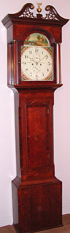 Eight-day longcase clock made about 1800 by Thomas Farmer of Stockton, County Durham
