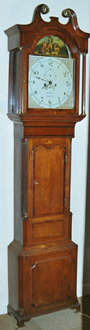 Eight-day clock c.1810 by Thomas Gadsby of Leicester