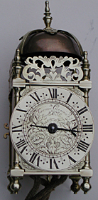 rare miniature lantern clock by Jeremy Gregory of London, 1680s