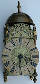 lantern clock of the late seventeenth century by John Harman of Horsham, Sussex