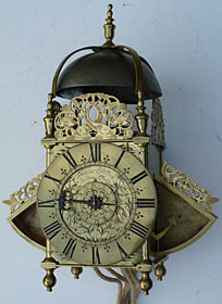 Lantern clock made in the 1670s by Francis Hill of London
