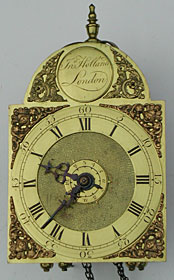 Tiny arched dial lantern clock made about 1775 by John Holland of London
