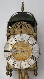 Rare verge pendulum lantern clock made in the late 1690s by William Jackson of Loughborough