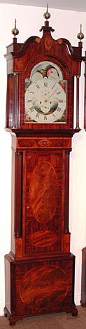Eight-day longcase clock made about 1795 by William Johnson of Congleton, Cheshire