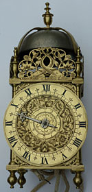 lantern clock (about 1650) by Thomas Knifton of Lothbury, London