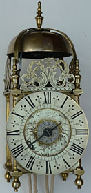 lantern clock made in the 1680s by Thomas Langley of Abingdon, Berkshire