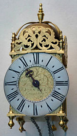 Lantern clock made in the reign of George I by John Lee of Loughborough