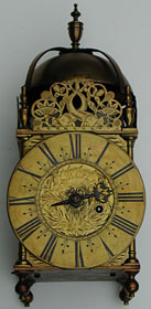 Lantern clock by Robert Lench of Stradishall, Suffolk, late 17c