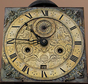 Rare eight-day longcase clock made in the 1670s by John London of Bristol