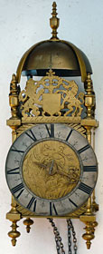 lantern clock by John London of Bristol, 1680s