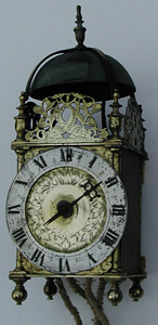 Unrestored lantern clock c.1655 by Thomas Loomes of London