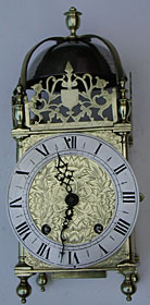 1650s lantern clock by Thomas Loomes of the Mermaid in Lothbury, London