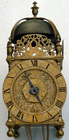 fine lantern clock by Thomas Loomes of London, dated 1660