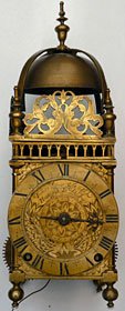 rare large lantern clock made about 1655 by Thomas Loomes of the Mermaid in Lothbury