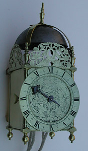 Lantern clock of the 1670s by John Lowe of London