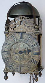 Lantern clock of about 1690 by Cornelius Manley of Norwich